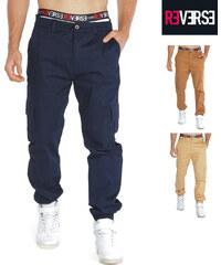 Re-Verse Pantalon cargo avec ourlets élastiques