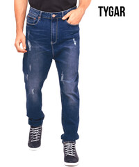 TYGAR Jeans regular style destroy avec entrejambe profond