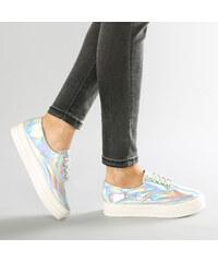 Lesara Plateau-Sneaker im Metallic-Design - 35