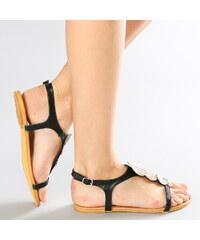 Lesara Sandales nu-pieds avec médaillons métalliques