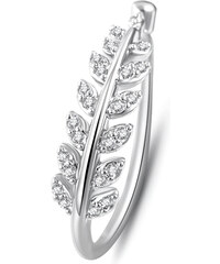 Lesara Plattierter Ring mit Zirkonia-Steinen - Silber - 52