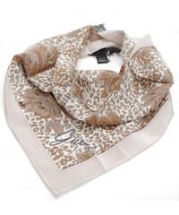 Guess hedvábný šátek s motivy květů