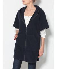 Venca Fleecový kabát s kapucí modrá