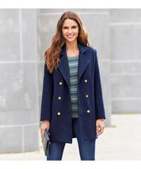 Venca Krátký flanelový kabát modrá