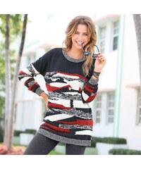 Venca Multibarevný pulovr černá