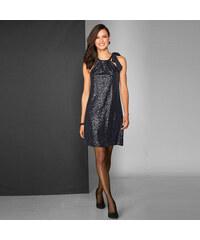 Venca Třpytivé šaty bez rukávů černá