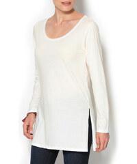 Venca Tunikové tričko s rozparky korálová