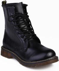 Venca Šněrovací boty ve vojenském stylu černá