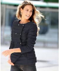 Venca Prošívaná bunda s odnímatelným límcem černá