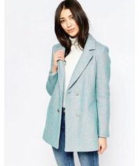 Yumi - Zweireihiger Mantel - Blau
