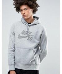 Nike SB - Icon - Sweat à capuche avec logo à pois - Gris 833903-063 - Gris