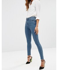 ASOS - Ridley - Enge Jeans mit hohem Bund in mittlerer Jo-Jo-Pretty-Waschung - Blau