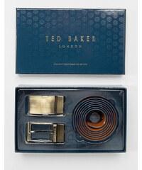 Ted Baker - 4-fach wendbarer Gürtel im Geschenkset - Braun