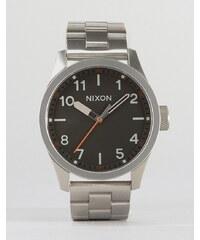 Nixon - Safari - Montre-bracelet - Gris foncé - Argenté