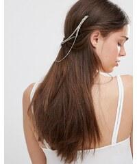 Kat&Bee Kat & George - Haarkämme mit Kettenverbindung und Totenkopfdesign - Silber