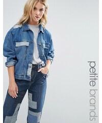 Waven Petite - Veste en jean motif patchwork - Bleu
