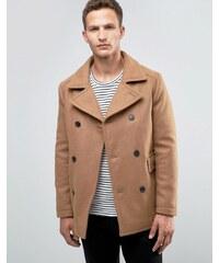 Selected Homme - Caban en laine - Beige