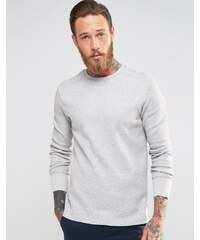Levis Levi's - T-shirt manches longues en polaire effet gaufré - Gris - Gris