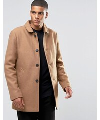 Selected Homme - Texturierter Trenchcoat aus Wolle - Beige