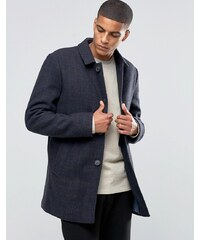 Selected Homme - Texturierter Trenchcoat aus Wolle - Marineblau