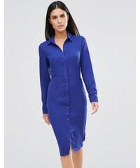 Club L - Robe chemise mi-longue - Bleu