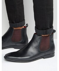 Base London - William - Bottines Chelsea en cuir - Noir