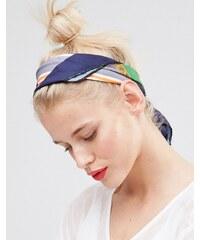Johnny Loves Rosie - Lucille - Kopftuch mit Print - Marineblau