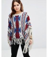 Raga - Aztec Dreams - Poncho mit geometrischem Muster - Mehrfarbig