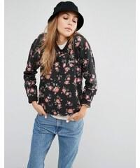 Vans - Sweat-shirt ras du cou imprimé fleuri - Noir