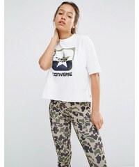 Converse - Hochgeschlossenes T-Shirt mit Tarnmuster-Sternlogo - Weiß