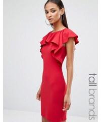 Missguided Tall - Minikleid mit Rüschen - Rot
