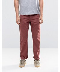 ASOS - Schmale Stretch-Jeans in Burgunderrot - Rot