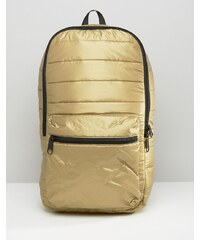 Converse - Gesteppter Rucksack in Metallic-Optik - Gold