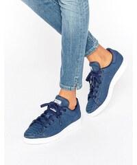 adidas Originals - Stan Smith - Baskets en daim aspect serpent en relief - Bleu marine - Bleu marine