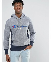 Champion - Sweat à capuche avec logo manuscrit - Bleu marine