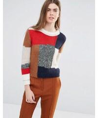 Vanessa Bruno Athe - Pull en maille avec motif patchwork - Multi