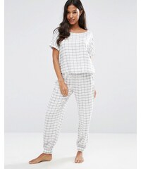 ASOS - Ensemble pyjama t-shirt et bas style pantalon de jogging à carreaux - Multi