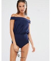 Beach Riot - Maillot de bain à épaules dénudées - Bleu marine