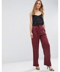 ASOS - Weiche luxuriöse Hose mit Bindegürtel - Rot