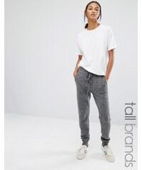 Glamorous Tall Knitted Track Pant - Grau