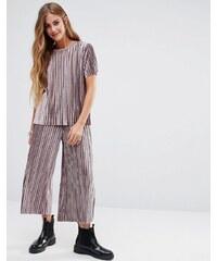 Glamorous - Plissierte Hose aus luxuriösem Samt, Kombiteil - Steingrau