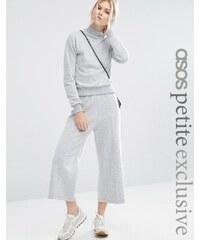ASOS PETITE - Flauschiger Hosenrock aus Sweatshirtstoff, Kombiteil - Grau