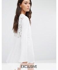 Flynn Skye - London - Robe courte avec dos en dentelle - Blanc