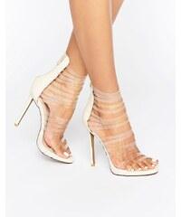 Public Desire - Imani - Sandalen mit transparenten Riemen und Absatz - Mehrfarbig