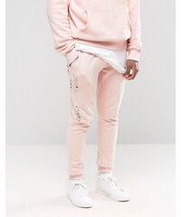 Criminal Damage - Pantalon de jogging skinny avec effet usé - Rose