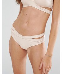 Noisy May - Tan Lines - Bikinihose in Nude mit Wickeldesign - Beige
