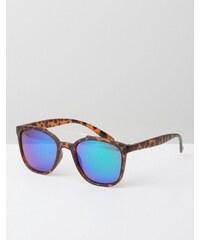Jeepers Peepers - Lunettes de soleil carrées avec verres réfléchissants - Écaille de tortue - Marron