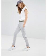 Daisy Street - Pantalon de survêtement à bordure contrastante - Gris