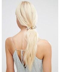 Orelia - Barrette motif fleur avec perle - Doré