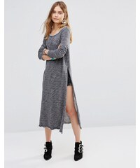 Free People - To The Max - Sweat long fendu - Gris
